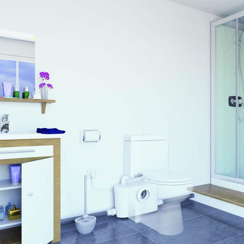 Sanibroyeur Sanipro XR UP - installé dans une salle de bains